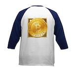 Bitcoins-3 Kids Baseball Jersey