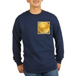 Bitcoins-3 Long Sleeve Dark T-Shirt