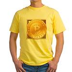 Bitcoins-3 Yellow T-Shirt