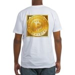 Bitcoins-3 Fitted T-Shirt