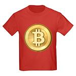 Bitcoins-5 Kids Dark T-Shirt
