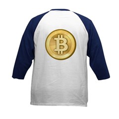 Bitcoins-5 Kids Baseball Jersey