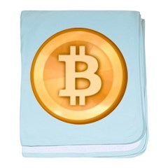 Bitcoins-5 baby blanket