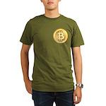Bitcoins-5 Organic Men's T-Shirt (dark)