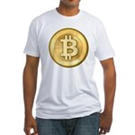 Bitcoins-5 Fitted T-Shirt
