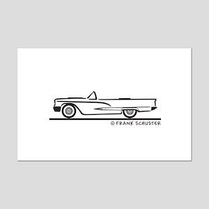 1959 Ford Thunderbird Convertible Mini Poster Prin