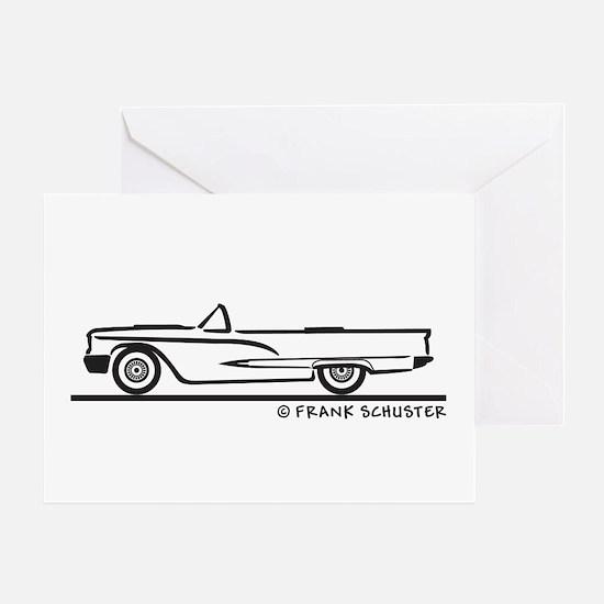 1959 Ford Thunderbird Convertible Greeting Card