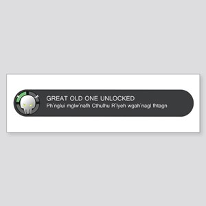 Elder God Unlocked Sticker (Bumper)