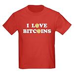 Bitcoins-6 Kids Dark T-Shirt