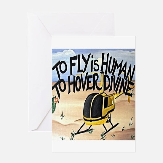 Helicopter in Desert Greeting Card