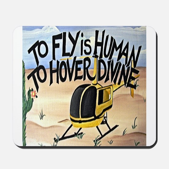 Helicopter in Desert Mousepad