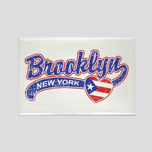 Brooklyn Puerto Rican Rectangle Magnet