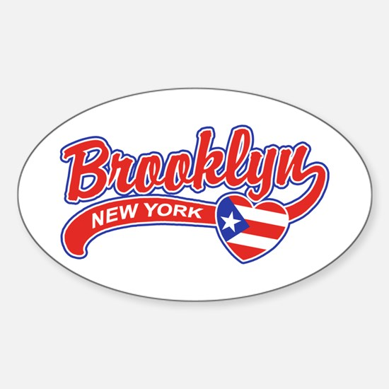 Brooklyn Puerto Rican Sticker (Oval)
