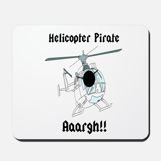 Helicopter Pirate Pilot Mousepad