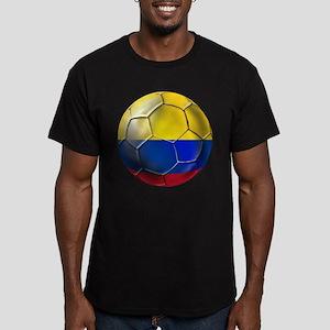 Colombian Soccer Futbol Men's Fitted T-Shirt (dark