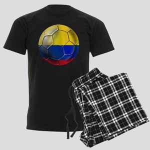 Colombian Soccer Futbol Men's Dark Pajamas