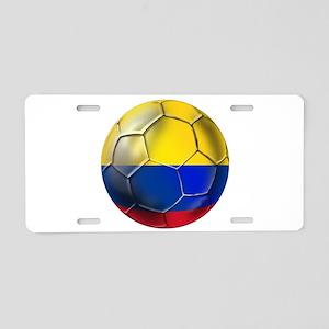 Colombian Soccer Futbol Aluminum License Plate