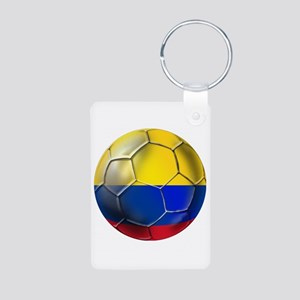 Colombian Soccer Futbol Aluminum Photo Keychain