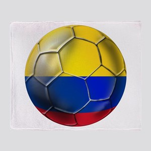 Colombian Soccer Futbol Throw Blanket