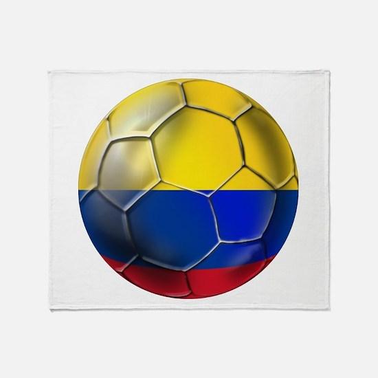 Colombian Soccer Futbol Throw Blanket
