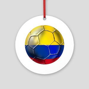 Colombian Soccer Futbol Ornament (Round)