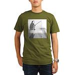 Ice Fishing Organic Men's T-Shirt (dark)