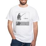 Ice Fishing White T-Shirt
