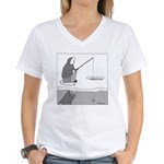 Ice Fishing Women's V-Neck T-Shirt