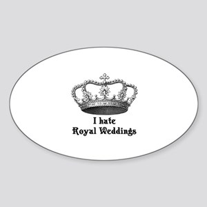 i hate royal weddings (v2, bl Sticker (Oval)