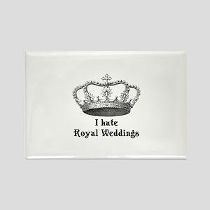 i hate royal weddings (v2, bl Rectangle Magnet