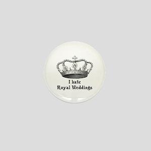 i hate royal weddings (v2, bl Mini Button