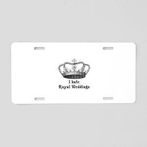 i hate royal weddings (v2, bl Aluminum License Pla