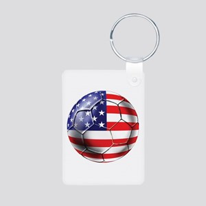U.S. Soccer Ball Aluminum Photo Keychain