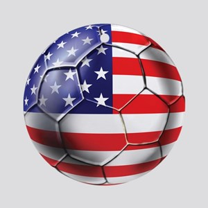U.S. Soccer Ball Ornament (Round)