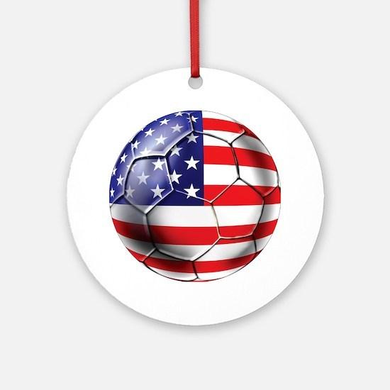 U.S. Soccer Ball Ornament (Round)