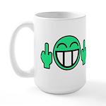 Flipoff guy Large Mug