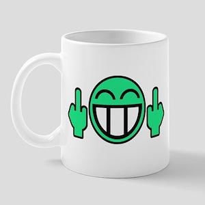 Flipoff guy Mug