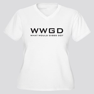 What Would Gibbs Do? Women's Plus Size V-Neck T-Sh