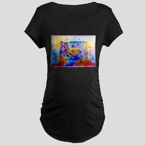 Fish, bright, fun, Maternity Dark T-Shirt