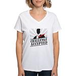 Challenge Accepted Women's V-Neck T-Shirt