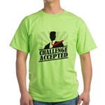 Challenge Accepted Green T-Shirt