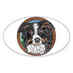 Tam's Tri Window Oval Sticker