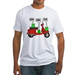 Scooter Frog Fitted T-Shirt