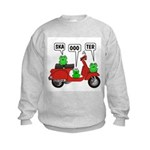 Scooter Frog Kids Sweatshirt