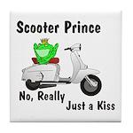 Scooter Frog Tile Coaster