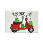 Scooter Frog Rectangle Magnet (10 pack)