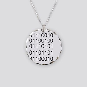 Binary Necklace Circle Charm
