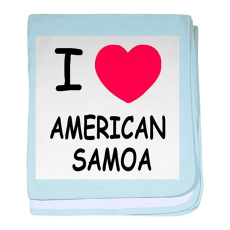 I heart american samoa baby blanket