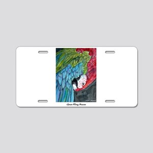 Macaw, bright, green-winged, Aluminum License Plat