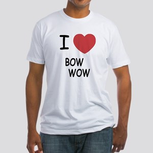 I heart bow wow Fitted T-Shirt